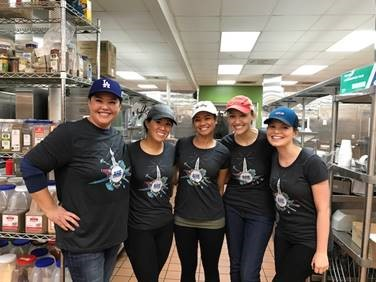 Alexandria team members volunteering